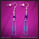 Blue Paperclip Earrings by Pete-Wentz-I-Love