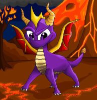 noticed the lava spyro? by CartoonSilverFox