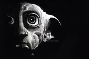 Dobby - Watercolor by uncleBING0