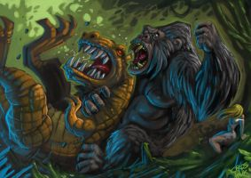 KONG Rumble in the jungle by MightyMoose