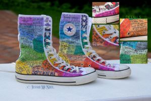Rainbow Converse by Jessie-Bear