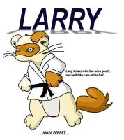 Larry-Ninja Ferret contest art by RevRuby