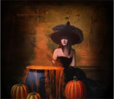 Halloween Witch by D-E-S-T-I-N-Y-0105