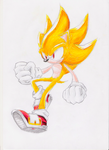 Redraw: Super Sonic by nothing111111