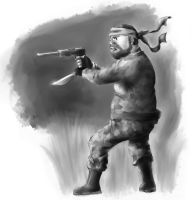 Caricatures - Fighter by tedil