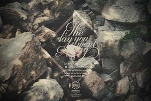 Typography|The day you went Away. by GenieDesigner