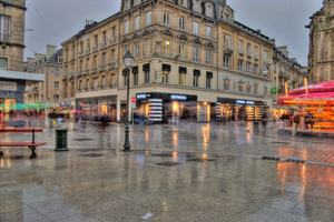 Place Bouchard in the Rain by Maylich