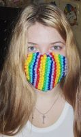 Rainbow Kandi Mask by anne-t-cats