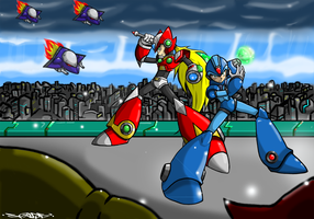 MegamanX and Zero Desktop by Spade03