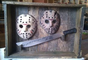 custom case for my mask and machete by ibentmywookiee