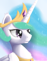 Royalty Portrait - Princess Celestia by NiegelvonWolf