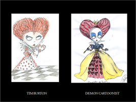 Red Queen Comparative by DemonCartoonist