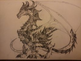dragon sketch almost finished by marv998
