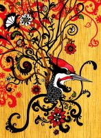 Pileated Woodpecker by nerdeeart