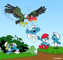 New Coleco Smurf Label Art. by Atariboy2600