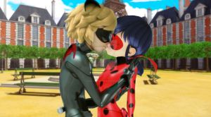 Chat Noir and Ladybug - Kiss by Gisellethecupid16