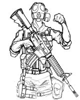 swat lineart by mavhn