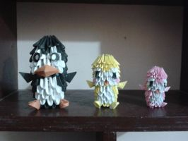 3d origami penguins by SunitaPatnaik