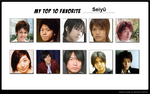 Top 10 Favorite Seiyuu by Sofii20905
