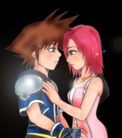 Sora and Kairi.. by yuna-yume