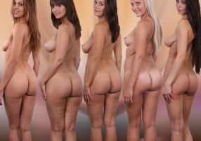 Collection de Fesses Quintet by Arts-Muse
