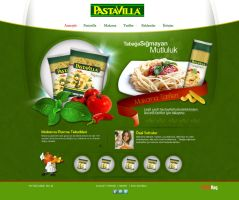 pastavilla web design by feartox