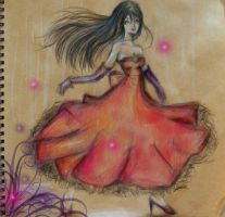 Lady in the red dress by selenatopham