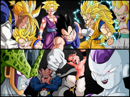 Saiyans VS Enemies Dragon Ball || Nola - TGA by TheGraphicsArts