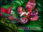 Double Knuckle Tropical Flower Ring by RebeccaBelding