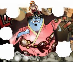 One Piece Chapter 854+ SPOILER Jinbei save Nami ! by Amanomoon