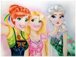 Frozen tangled selfie by Anoyliss