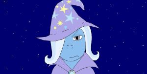 The Great and Powerful Trixie is not amused by Kyuubichowderfan