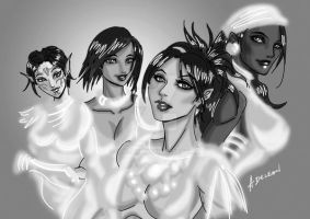 Ladies of Dragon Age WIP by ADL-art