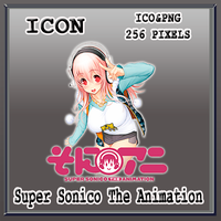 Super Sonico The Animation Icon by Myk-2103