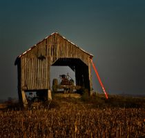 Barn and Tractor by boron