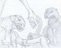 GODZILLA VS CLOVERFIELD by codycameron91