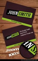 Green Business Card by Freshbusinesscards
