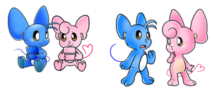 Collab: Pink and Blue by Nintendrawer