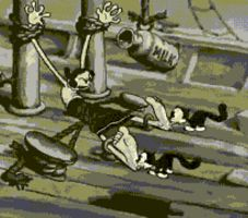Olive Oyl Feet-Licked - Animated GIF by RBM-Ink