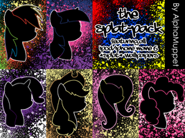 Splat Series By AlphaMuppet iPod/iPhone Wallpapers by AlphaMuppet