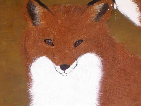Fox painting by foxwithwings13