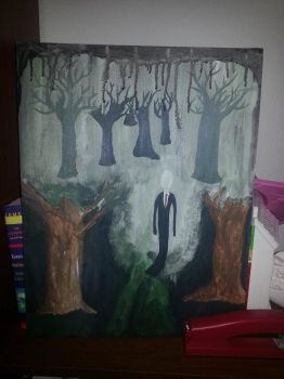 slender man painting by LibraAiko