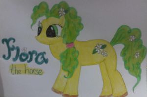 My Little Pony: Flora (with colour) by befiel