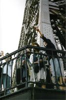 Asians Atop the Eiffel by ShePretends