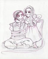 Rapunzel_and_Flynn by ingridsailor2009