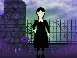 Wednesday Addams Ventures Out by terrya7
