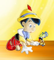 Pinocchio and Jiminy by ratscout