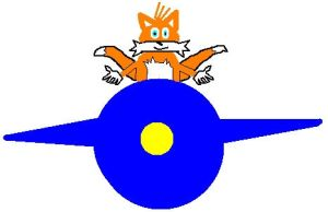 Tails in his plane by sonicthemeatball