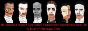 A host of Phantom Sims by Sylent-Anpu-Phantom