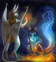difference of fire-collab by Silverbloodwolf98